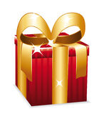 Red gift Stock Image