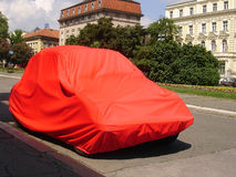 Red gift. Car packed as a gift in red package Royalty Free Stock Images
