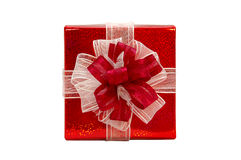 A red gift Royalty Free Stock Image