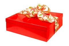 Red gift angle Stock Images