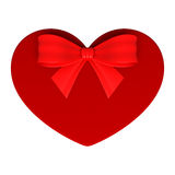 Red gift as heart Royalty Free Stock Image