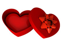 Red gift as heart Royalty Free Stock Photography