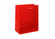 Red gift bag Stock Photography