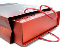 RED GIFT BAG Royalty Free Stock Images