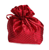 Red Gift Bag. Red gift back with sparkling dots against a white background Stock Image