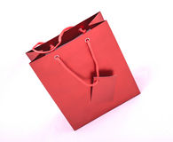 Red gift bag Stock Images