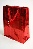 A red gift bag Stock Photography