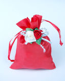 Red gift bag Royalty Free Stock Photos