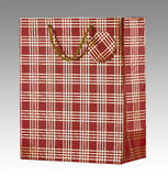 Red gift bag with tag Royalty Free Stock Photography