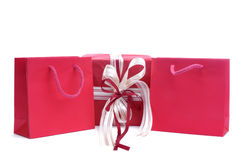 Red gift bags Royalty Free Stock Photography