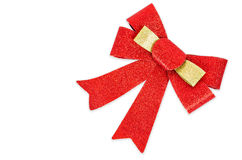 Red gift blitter bow. Ribbon. Stock Image