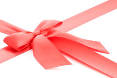 Red gift bow Stock Images