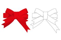 Red gift bow Royalty Free Stock Images