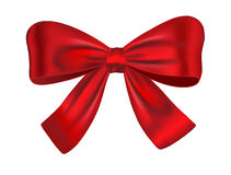 Red gift bow. Red satin gift bow isolated on white backgroud. Ribbon. Vector illustration vector illustration