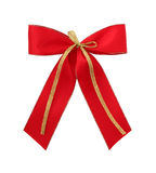 Red gift bow Stock Photography