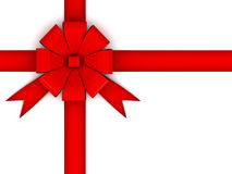Red gift bow Royalty Free Stock Photography