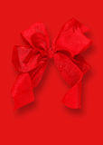 Red gift bow. Stock Photos