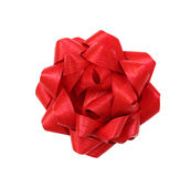 Red gift bow. Isolated on white background Royalty Free Stock Photo