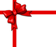 Red Gift Bow And Ribbon Stock Images