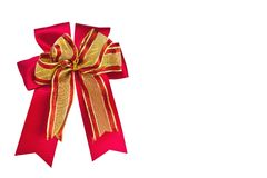 Red gift bow isolate Stock Photo