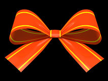 Red gift bow isolated Stock Photo