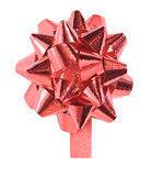 Red Gift Bow isolated Royalty Free Stock Image