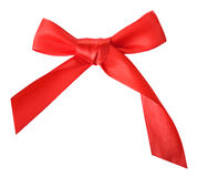 Red gift bow Stock Image