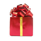 Red gift with bow and ribbon Royalty Free Stock Images