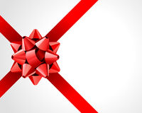 Red Gift Bow and Ribbon Royalty Free Stock Photography