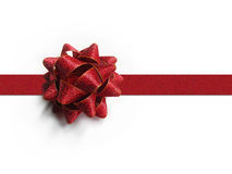 Red Gift Bow and Ribbon Royalty Free Stock Image
