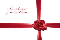 Red gift bow with ribbon. Royalty Free Stock Photography