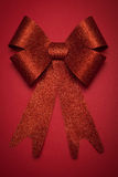 Red gift bow. Ribbon. Stock Image