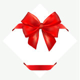 Red gift bow with ribbon. Stock Photography