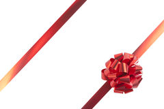 Red gift bow and ribbons Royalty Free Stock Images