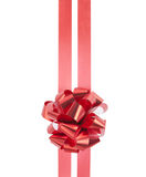 Red gift bow and ribbons Stock Images