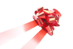 Red gift bow and ribbons Royalty Free Stock Photography