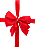 Red gift bow Stock Photos