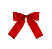 Red gift bow royalty free stock image