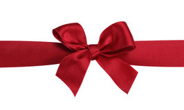 Free Red Gift Bow With Ribbon. Royalty Free Stock Image - 17168096