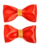 Red gift bows Royalty Free Stock Photo