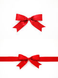 Red gift bows and ribbon royalty free stock photography