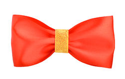 Red gift bows with ribbons Royalty Free Stock Images