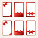Red gift bows with ribbons. Stock Photography