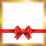 Red gift bows with ribbons. Royalty Free Stock Photo