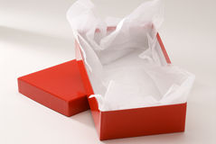 Red gift box. Royalty Free Stock Photography