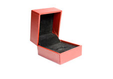 Red gift box. Photo of an empty red gift box Stock Image