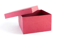 Red gift box 2. Red gift box on white background Royalty Free Stock Photo