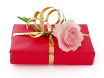 Red Gift Box Stock Photo