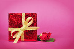 Red gift box Royalty Free Stock Image