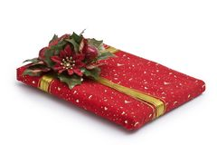 Red gift box Stock Images
